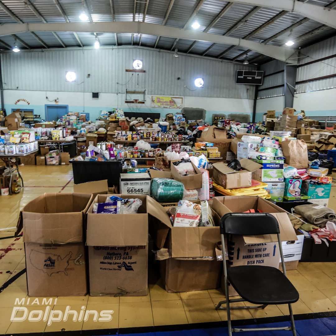 bahamas relief supplies miami dolphins