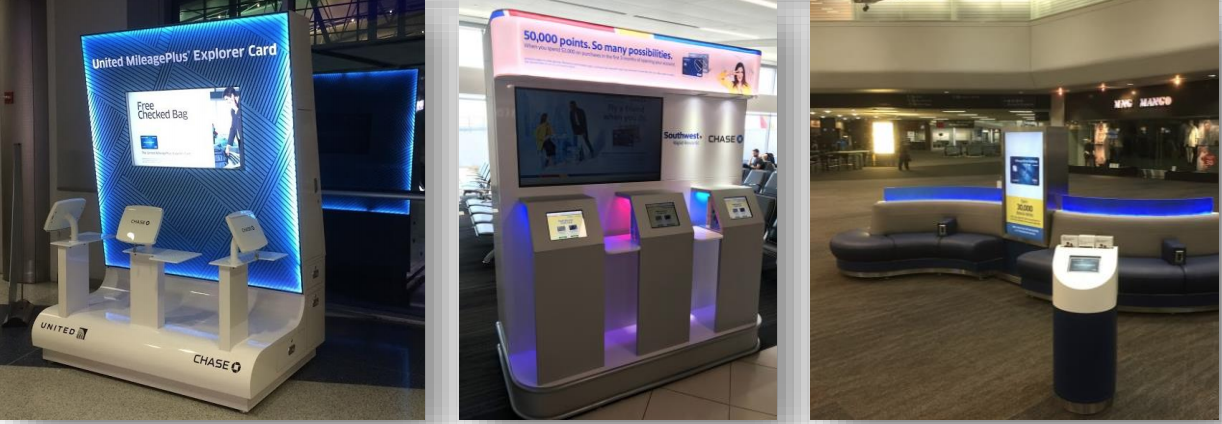 Chase Airport Activation by Innovative Group